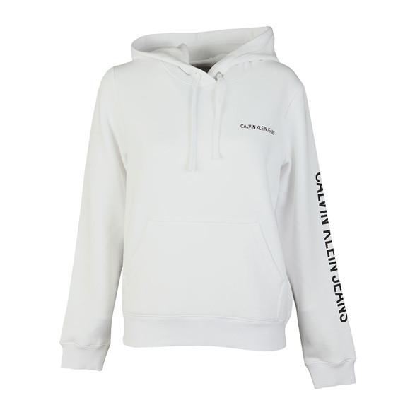 Calvin Klein Jeans Womens White Institutional Regular Hoody main image