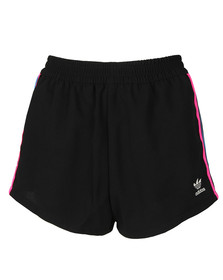 Adidas Originals Womens Black 3 Stripe Short