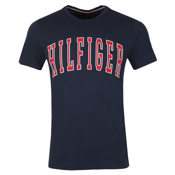Tommy Hilfiger Mens Blue College Logo Tee main image