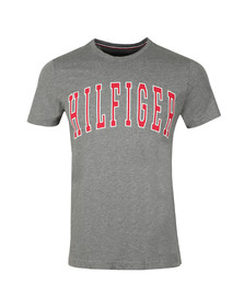 Tommy Hilfiger Mens Grey College Logo Tee
