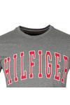 Tommy Hilfiger Mens Grey College Logo Tee