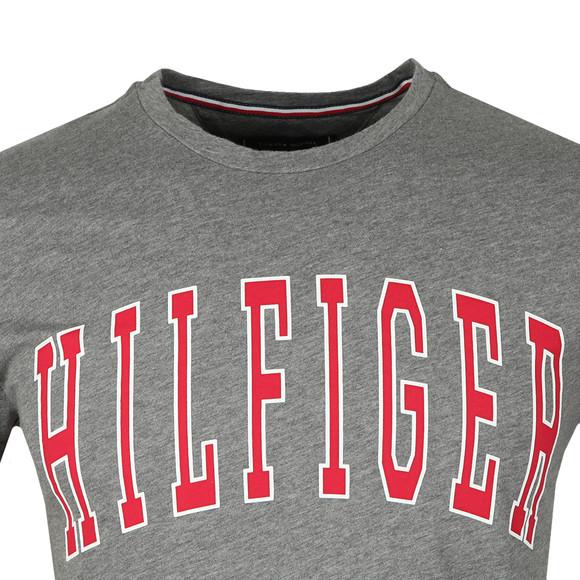 Tommy Hilfiger Mens Grey College Logo Tee main image