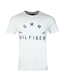 Tommy Hilfiger Mens White Arch Logo Tee