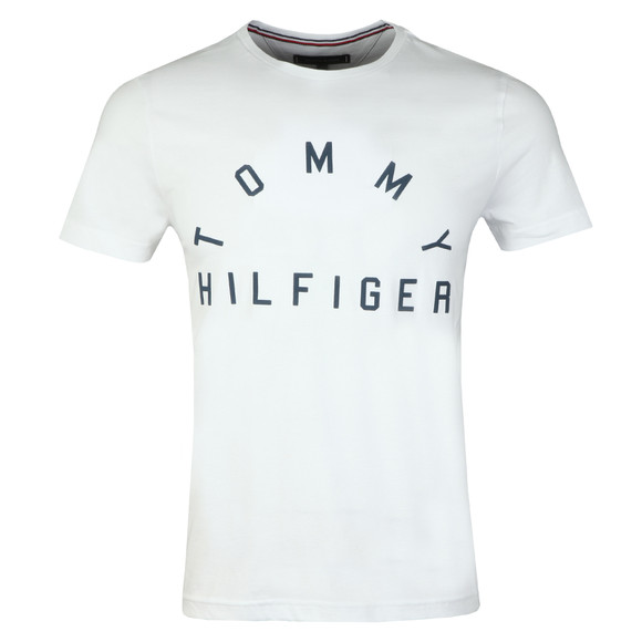 Tommy Hilfiger Mens White Arch Logo Tee main image