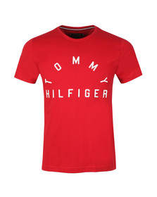 Tommy Hilfiger Mens Red Arch Logo Tee
