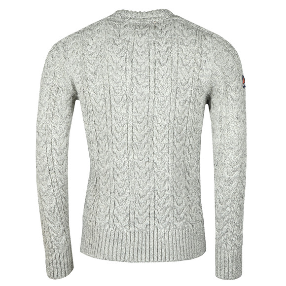 Superdry Mens Beige Jacob Crew Jumper main image