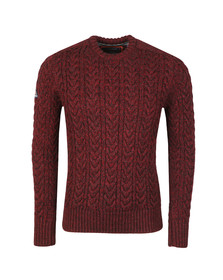 Superdry Mens Red Jacob Crew Jumper
