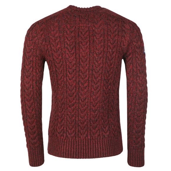 Superdry Mens Red Jacob Crew Jumper main image