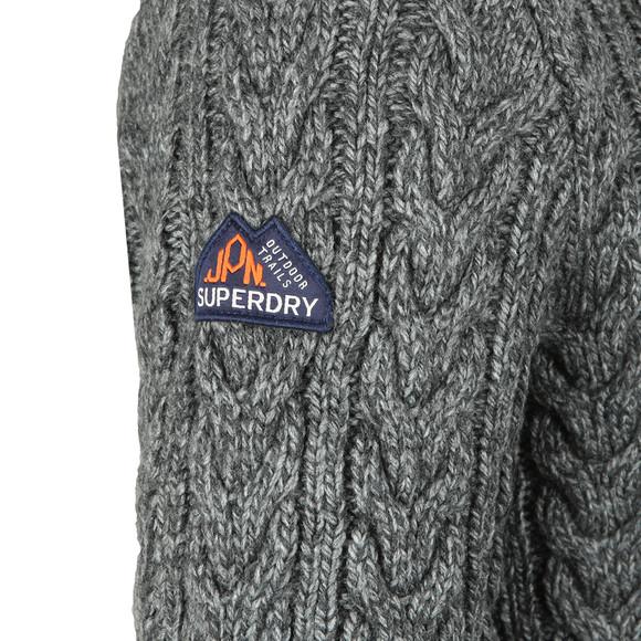 Superdry Mens Grey Jacob Crew Jumper main image