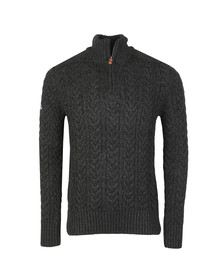 Superdry Mens Black Jacob Henley Jumper
