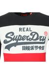 Superdry Mens Blue Vintage Logo Panel LS Tee