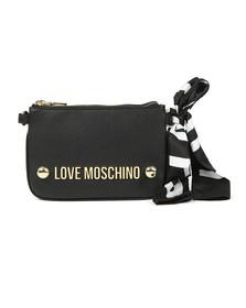 Love Moschino Womens Black Borsa Soft Grain Bag