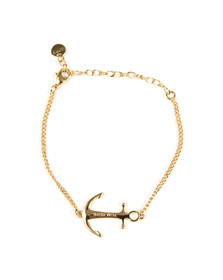 Tom Hope Womens Gold Saint Chain Bracelet