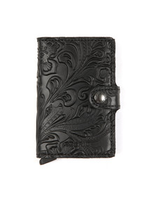 Secrid Mens Black Ornament Mini Wallet