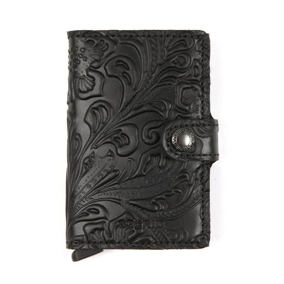 Secrid Mens Black Ornament Mini Wallet main image
