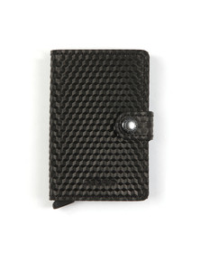 Secrid Mens Black Cubic Mini Wallet