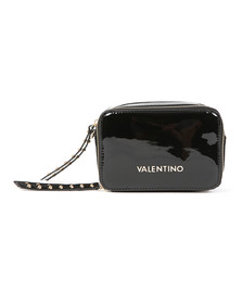 Valentino by Mario Womens Black Ribave Haversack Bag