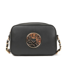 Valentino by Mario Womens Black Olympia Haversack Bag