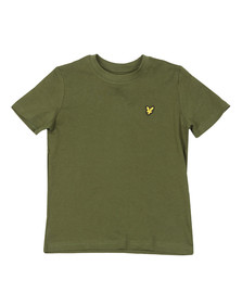 Lyle And Scott Junior Boys Green Plain Crew T Shirt