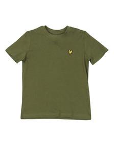 Lyle And Scott Junior Boys Green Plain Crew T Shirt
