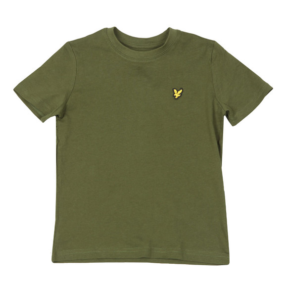 Lyle And Scott Junior Boys Green Plain Crew T Shirt main image