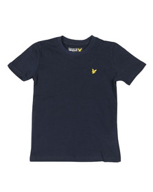 Lyle And Scott Junior Boys Blue Plain Crew T Shirt
