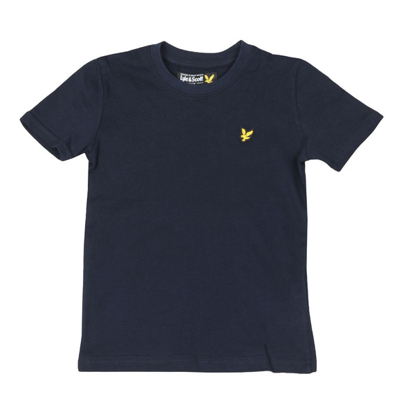 Lyle And Scott Junior Boys Blue Plain Crew T Shirt main image