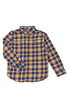 Lyle And Scott Junior Boys Blue Brushed Twill Check Shirt