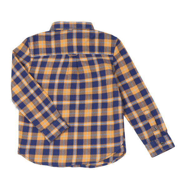 Lyle And Scott Junior Boys Blue Brushed Twill Check Shirt main image