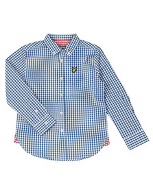 Lyle And Scott Junior Boys Blue Gingham Shirt