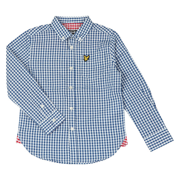 Lyle And Scott Junior Boys Blue Gingham Shirt main image