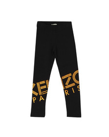 Kenzo Kids Girls Black Girls Rose Gold Logo Legging