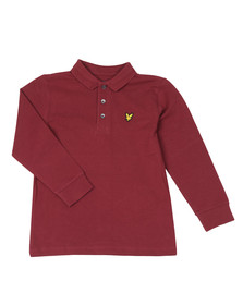 Lyle And Scott Junior Boys Red Classic Long Sleeve Polo Shirt