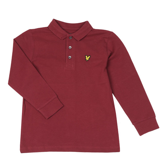 Lyle And Scott Junior Boys Red Classic Long Sleeve Polo Shirt main image