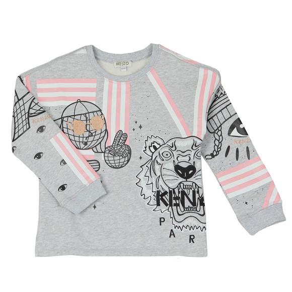 Kenzo Kids Girls Grey Girls Cosmic Kenzo Eda Sweat
