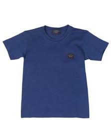 Paul & Shark Boys Blue Small Logo T Shirt