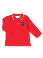 Baby Circle Logo Long Sleeve Polo Shirt