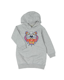 Kenzo Kids Girls Grey Tiger Hooded Dress