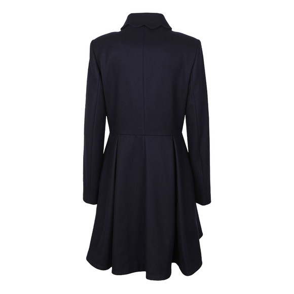 Ted Baker Womens Blue Blarnch Scallop Trim Wool Coat main image