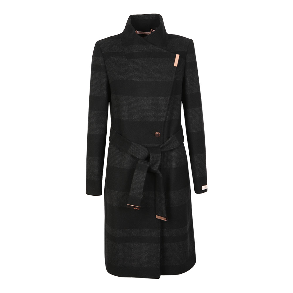 Narrla Stripe Long Wrap Coat main image