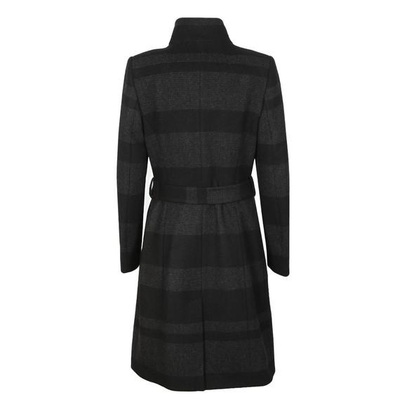 Ted Baker Womens Black Narrla Stripe Long Wrap Coat main image