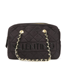 Valentino by Mario Womens Black Arrival Satchel Handbag