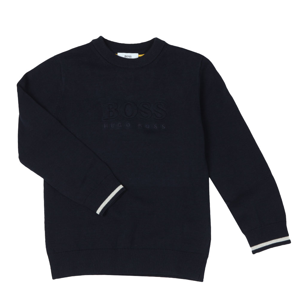 Boys Embossed Knitted Jumper main image