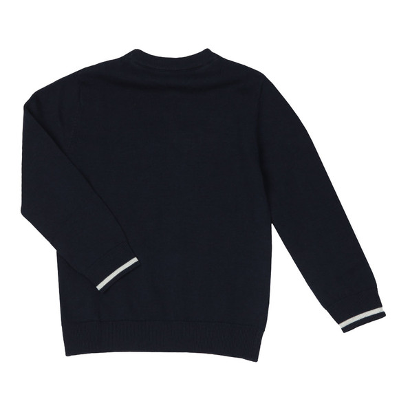 BOSS Bodywear Boys Blue Boys Embossed Knitted Jumper main image