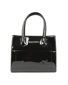 Valentino by Mario Womens Black Ribaye Tote Bag