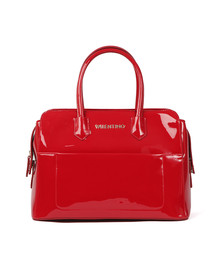 Valentino by Mario Womens Red Ribave Satchel Handbag