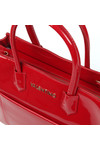 Valentino by Mario Womens Red Ribave Satchel Handbag