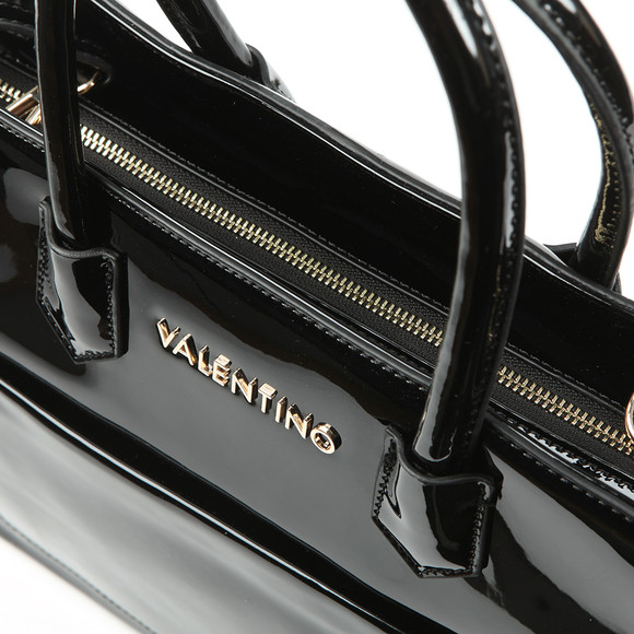 Valentino by Mario Womens Black Ribave Satchel Handbag main image