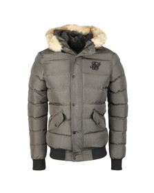 Sik Silk Mens Grey Parachute Jacket