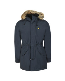 Lyle and Scott Mens Blue Winter Weight Microfleece Lined Parka